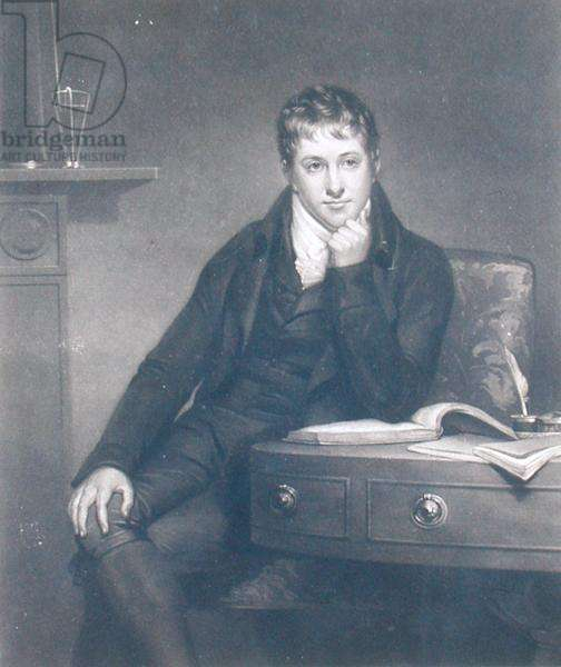 Sir Humphry Davy (1778-1829), engraved by S.W. Reynolds, 1804 (mezzotint engraving)