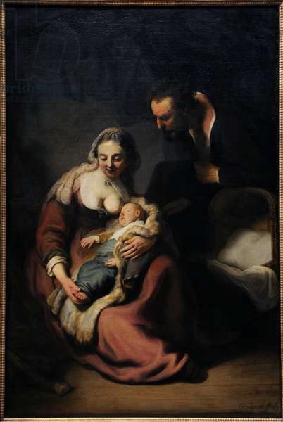 Rembrandt  (1606-1669). The Holy Family, 1633-35. Alte Pinakothek. Munich. Germany.
