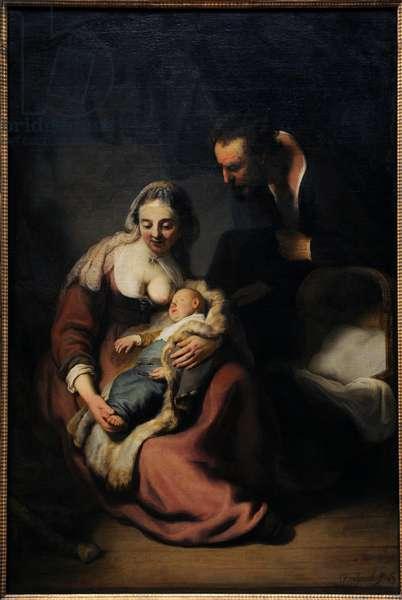 Rembrandt  (1606-1669). The Holy Family, 1633-35. Alte Pinakothek. Munich. Germany.