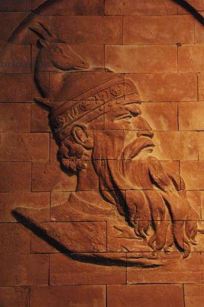 Skanderbeg (1405–1468). National hero and a key figure of the Albanian National Awakening. Relief.