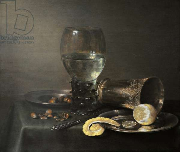 Still Life with Roemer and Lemon, 1632, by Willem Claeszoon Heda (1594-1680).