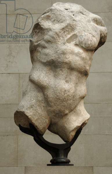 Figure of Hermes from the Parthenon west pediment, c.438-432 BC (marble)