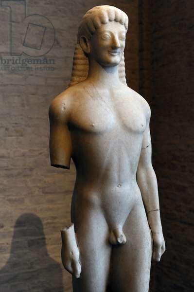 Apollo of Tenea. About 560 BC. Glyptothek. Munich.