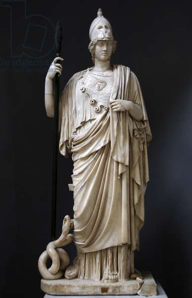 The Athena Giustiniani. Roman copy of a Greek statue of Pallas Athena. 2nd century.