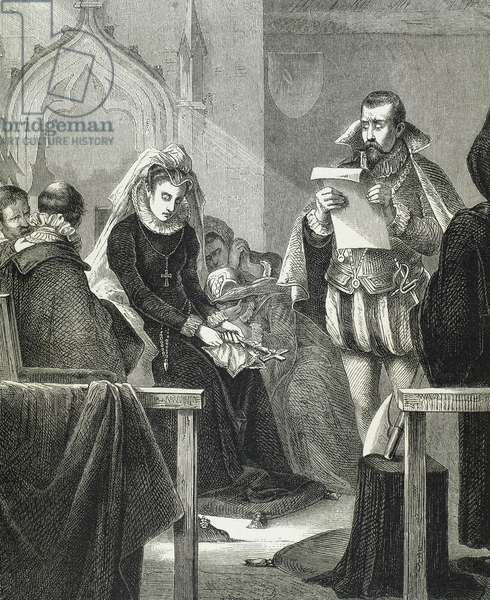 Mary, Queen of Scots (1542-1587)., on the scaffold. Engraving,1885.