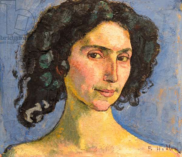 Portrait of Giulia Leonardi, 1910, by Ferdinand Hodler (1853-1918).