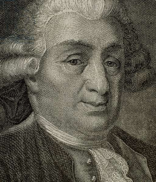 Carlo Goldoni (1707-1793). Italian playwright. Engraving.