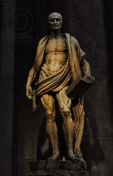 St Bartholomew Flayed (1562) by Marco d'Agrate (c. 1504 – c. 1574). Cathedral of Milan. Italy.