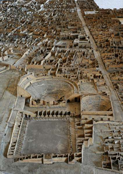 Plastic model of Pompeii (1:100), 1861-79
