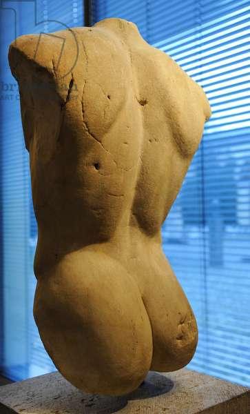 Torso of a statue of Apollo. Roman sculpture after original of about 460 BC. Glyptothek. Munich.
