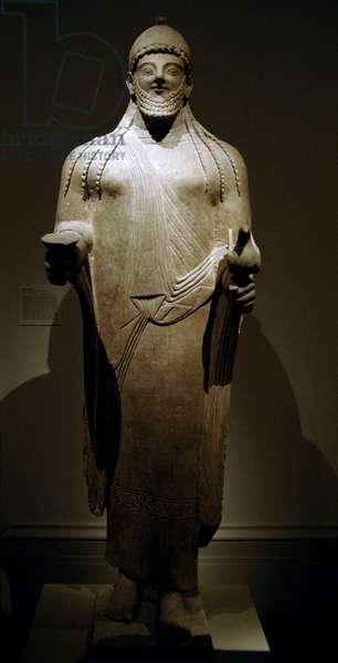 Phoenician art. Cyprus. Statue of a priest. Late sixth century BC.