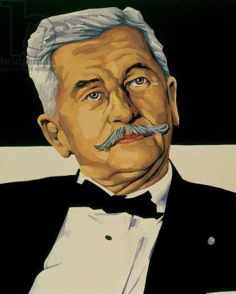 Portrait of William Faulkner (1897-1962), American writer, Nobel Prize laureate in literature in 1949.