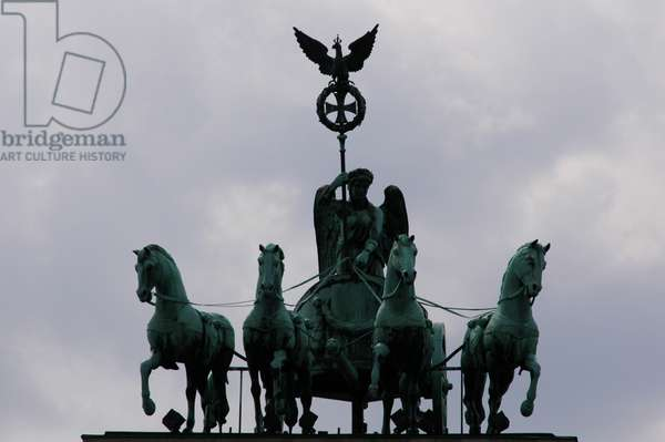 Quadriga by Johann Gottfried Schadow (1764-1850). Brandenburg Gate. Berlin.