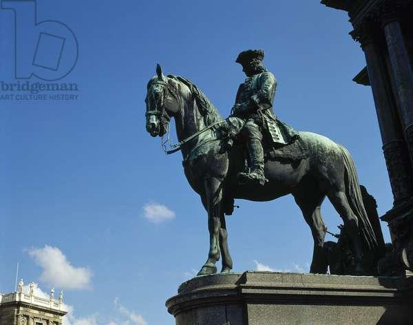 Otto Ferdinand von Abensberg und Traun (1677-1748), Austrian general field marshal, Statue, Vienna, Austria