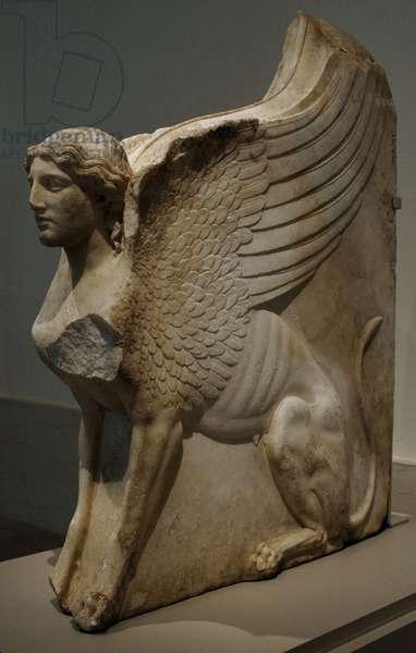 Sphinx-shaped bracket. (27 b.C 14 a.C.). Augustan period. Marble. Metropolitan Museum of Art. New York. United States.