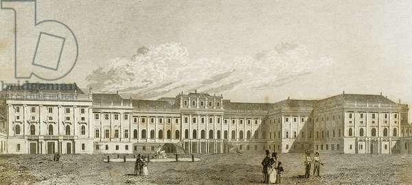 Austria. Vienna. 17th century. Schonbrunn Palace (engraving)