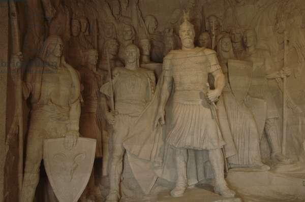 Skanderbeg (1405-1468). National hero and a key figure of the Albanian National Awakening.