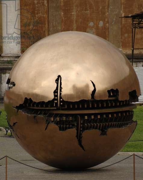 Sphere Within Sphere.  By Arnaldo Pomodoro (b. 1926).
