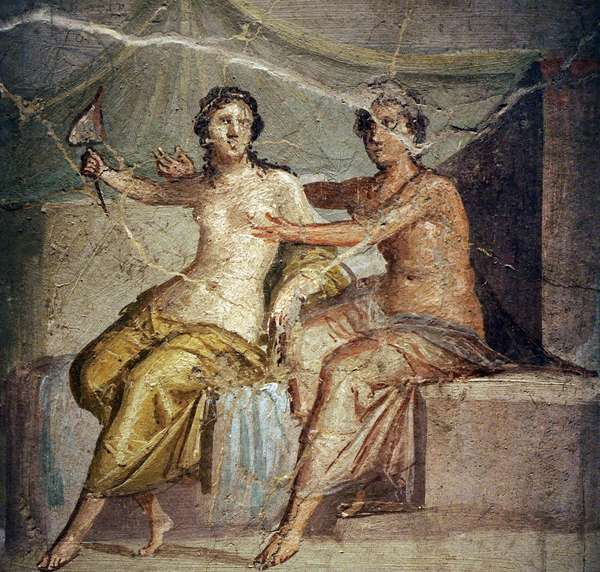 Roman painting mural, Venus and Mars, House of Menander (I, 10,4), Pompeii, Italy