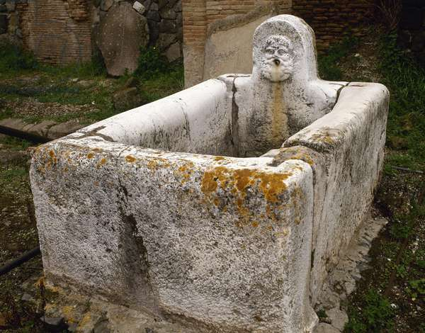 Public fountain. Herculaneum.