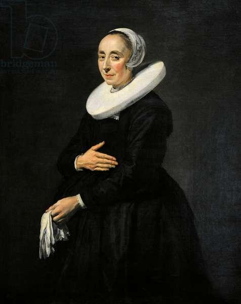 Portrait of a woman (Cornelia van der Meer?), ca.1640, by Frans Hals (1581/1585-1666).