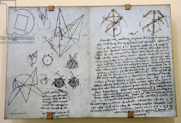 Alhazen's problem from Atlantic Codex (Codex Atlanticus)