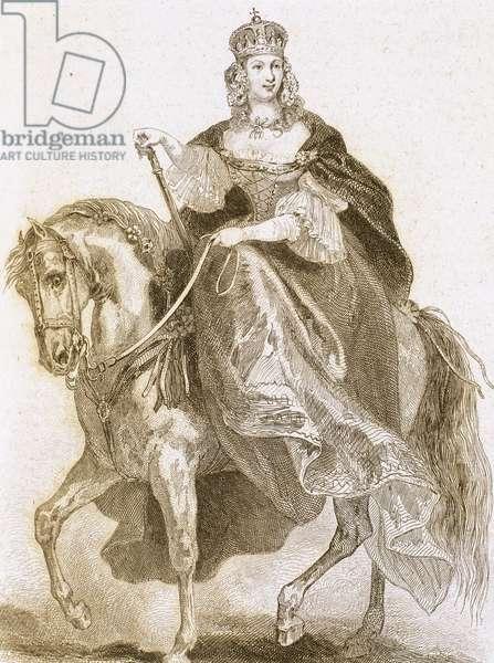 Maria Theresa (1717-1780). Empress of the Holy Roman Empire. Engraving.