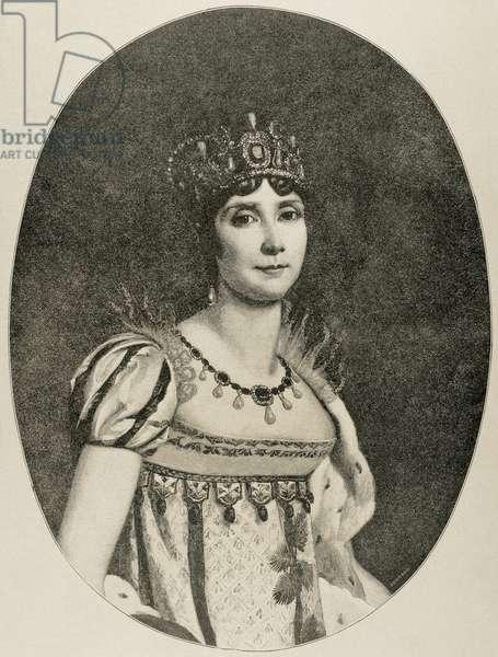 Josephine de Beauharnais (1763-1814). Engraving.
