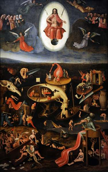 The Last Judgement, 1540. Hieronymus Bosch (1450-1516). Detail.