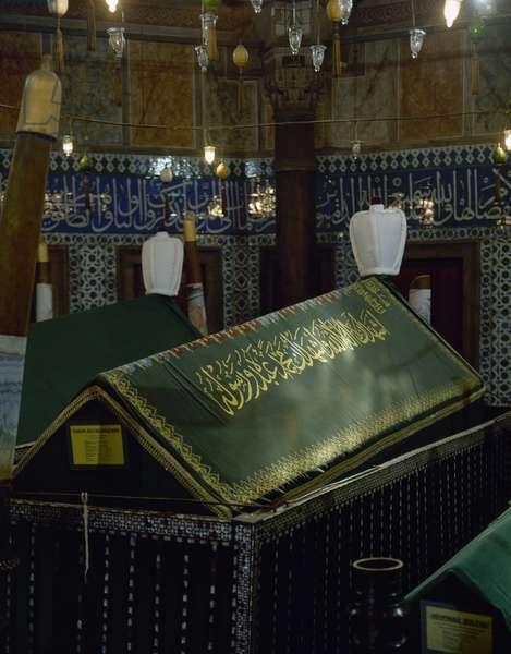 Turkey. Istanbul. Mausoleum of sultan Suleiman I, by architect Mimar Sinan.