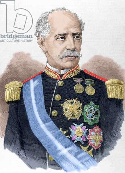 Ignacio Maria del Castillo (1817-1893). Colored engraving.