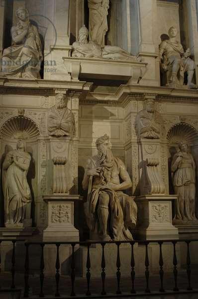 Tomb of Pope Julius II (1443-1513). 1505-1545. By Michelangelo (1475-1564). Italy.