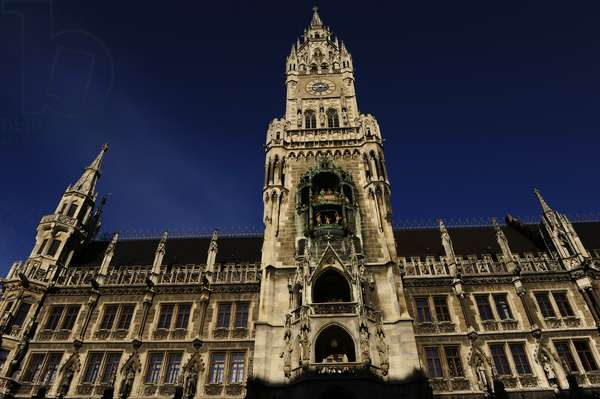 Germany. Munich. The New Town Hall. Marienplatz.