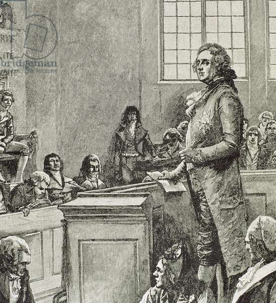 French Revolution (1789-1799). Judgment of Louis XVI (engraving)