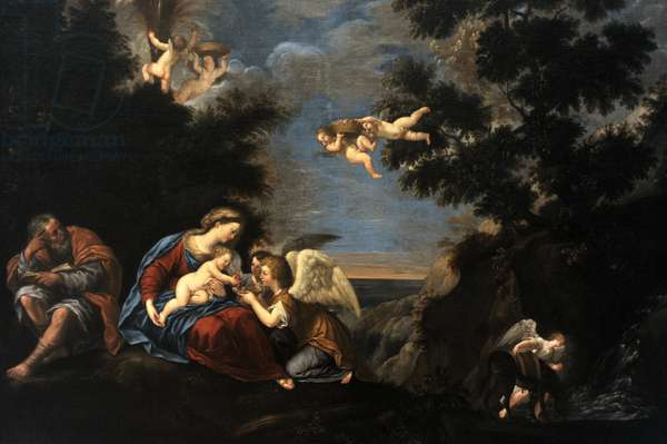 Rest on the Flight into Egypt, ca. 1640, by Francesco Albani (1578-1660).