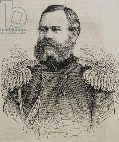 Dmitry Ivanovich Sviatopolk-Mirsky (1825-1899). Russian statesman and military. Portrait (engraving)