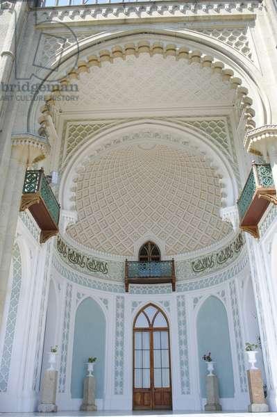 Interior walls of the entrance hall, Vorontsov Palace, Alupka, Autonomous Republic of Crimea, Ukraine (photo)