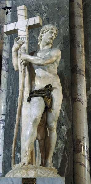Michelangelo Buonarroti (1475-1564). The Cristo della Minerva. Marble sculpture, 1521. Saint Mary above Minerva. Italy. Rome.
