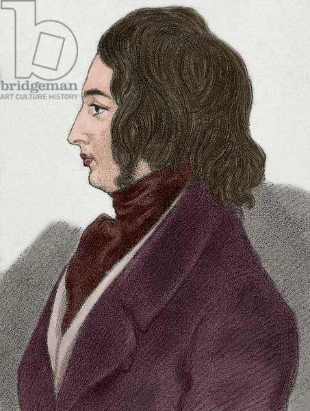 Charles Dickens (1812-1870). British novelist. Drawing