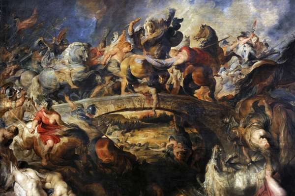 Battle of the Amazons, 1616-1618, by Rubens (1577-1640).