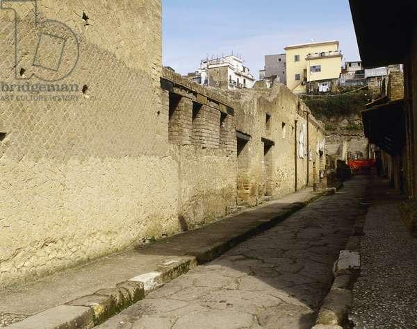 Italy, Herculaneum, Urban Baths, Entrance of women's baths, Cardo IV, Campania