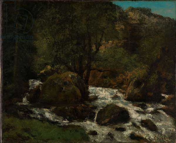A Brook in the Forest, Jura, c.1865