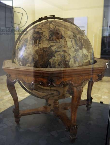 Terrestrial globe by  cosmographer Vicenzo Coronelli (1650-1718).