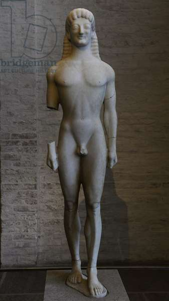 Apollo of Tenea. About 560 BC. Glyptothek. Munich. Germany.