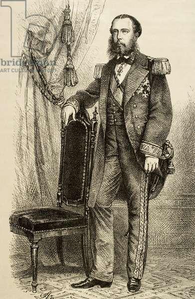 Maximilian I of Mexico (1832-1867). Portrait (engraving)