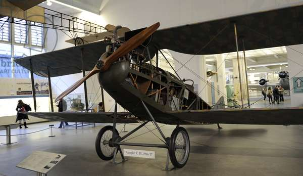 Rumpler C.IV. German single-engine, two-seat reconnaissance biplane. 1917.