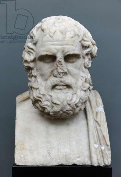 Euripides (480-406 BC). Bust. Roman copy of a Greek original (270 BC).