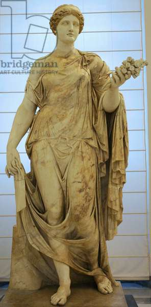 Roman Art, The Flora Maior or Flora Farnese, 2nd century AD, Statue