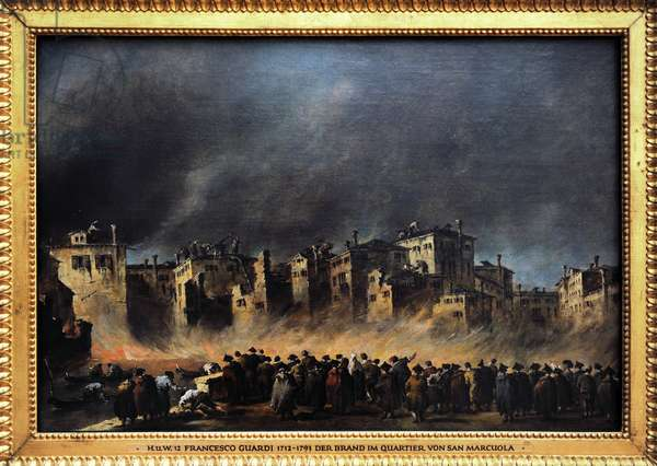 Fire in the oil depot at San Marcuola, 1789, by Francesco Guardi (1712-1793)