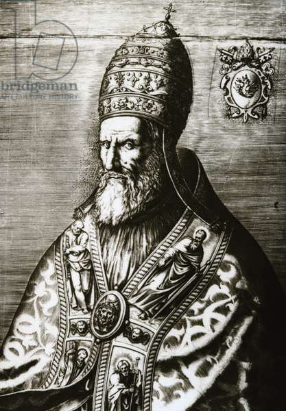 Pope Gregory XIII (1502-1585), Portrait (engraving)